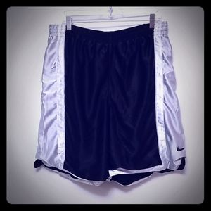 Nike Silver and Black Athletic Shorts
